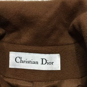 Dior Jackets & Coats - Christian Dior Brown Wool Coat sz 8